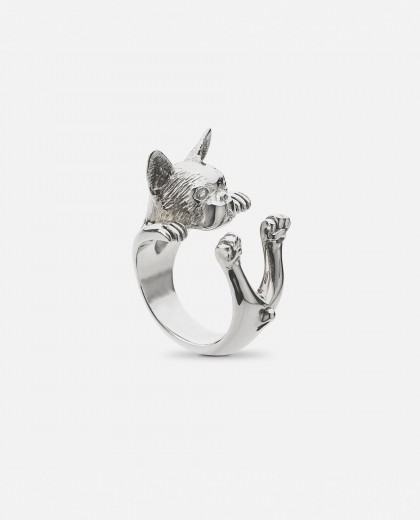 Anillo  Dog Fever Bulldog francés Plata
