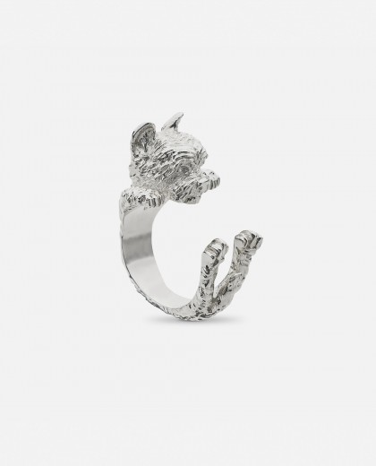 Anillo  Dog Fever Yorkshire Plata